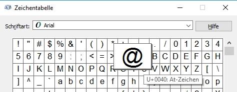 AT Zeichen geht nicht unter Windows 10