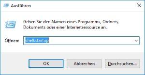 Pfad zum Autostart-Ordner unter Windows 10