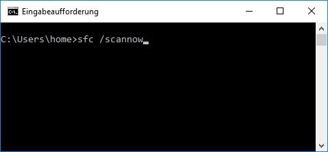 Mit sfc /scannow Windows 10 auf Fehler prüfen
