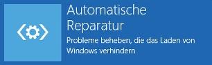 Automatische Reparatur wird vorbereitet