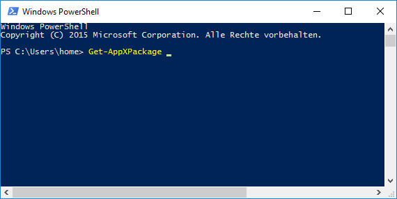 Get-AppXPackage Zugriff verweigert in Powershell