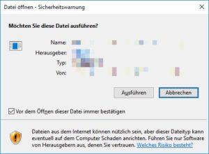 Datei öffnen Sicherheitswarnung deaktivieren