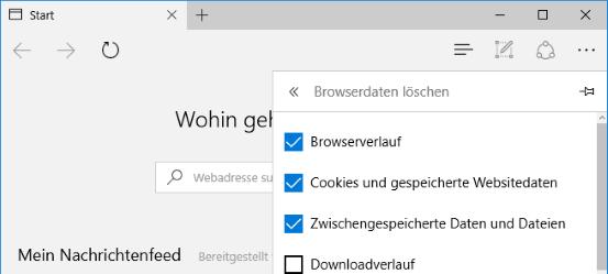 Edge Browser zurücksetzen