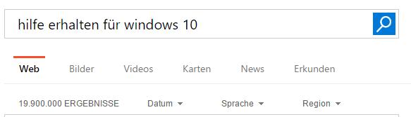 Hilfe erhalten für Windows 10