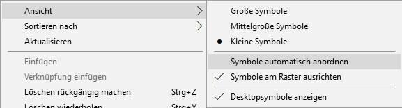 Icons auf dem Desktop lassen sich nicht verschieben