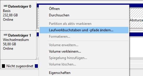 Laufwerksbuchstaben zuweisen, wenn Brenner unter Windows 10 nicht erkannt wird