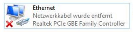Netzwerkkabel wurde entfernt (Windows 10)