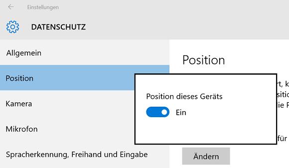Windows 10 Standort Ortung deaktivieren