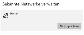 Windows 10 WLAN Passwörter löschen
