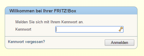 Fritzbox einloggen unter Windows 10