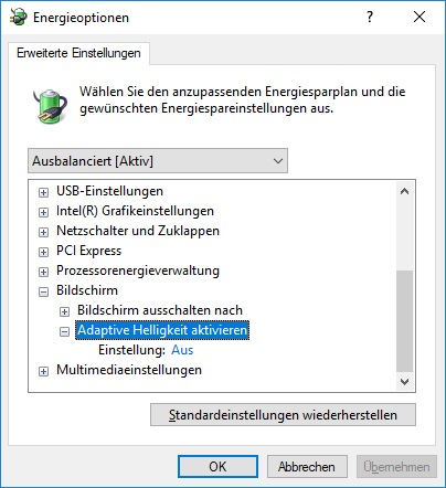 Windows 10 Bildschirm zu dunkel trotz voller Helligkeit