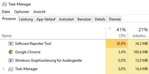 Software Reporter Tool deaktivieren